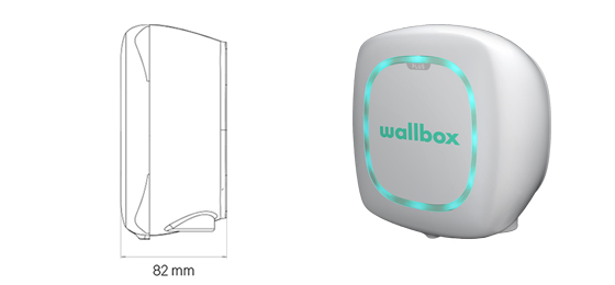 Wallbox Pulsar Plus storlek